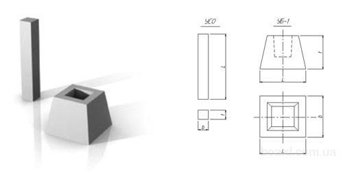 Унифицированные стойки опоры УСО -2А